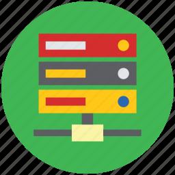 data storage, database, hosting, rack, server, web host icon
