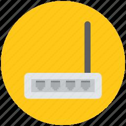 broadband modem, internet router, wifi device, wifi modem, wireless fidelity icon