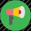 announcement, bullhorn, loud hailer, loud speaker, mega phone, protest icon