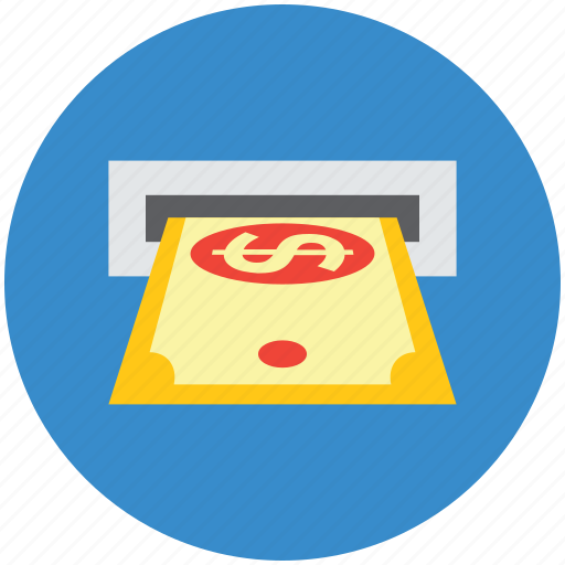 atm machine, atm transaction, atm withdrawal, cash withdrawal icon