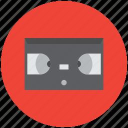audio-cassette, cassette, compact cassette, music tape, videocassette icon