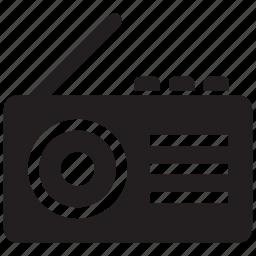 antenna, audio, music, player, radio, signal, sound icon