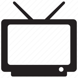 antenna, appliance, display, monitor, screen, television, tv icon