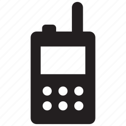 communication, cordless, phone, radio, talkie, transceiver, walkie icon