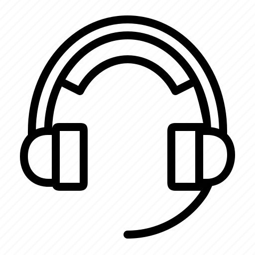 ear phone, electronics, headphone, headset, mic, music icon
