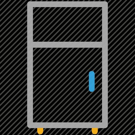 fridge, fridge with freezer, kitchen, refrigerator icon