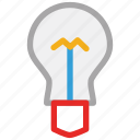 bulb, energy, light, light bulb icon