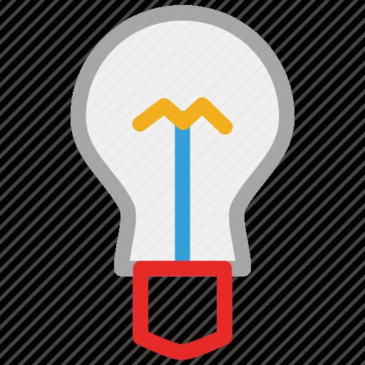 bulb, energy, light, light bulb icon