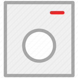 electric, electronics, laundry machine, washing machine icon