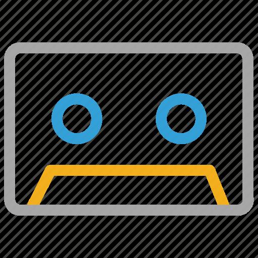 audio cassette, audiotape, audiotape cassette, cassette icon