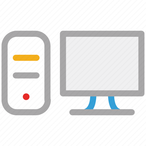 computer, desktop, pc, personal computer icon