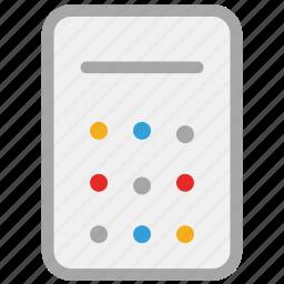 calculate, calculator, print, print calculator icon