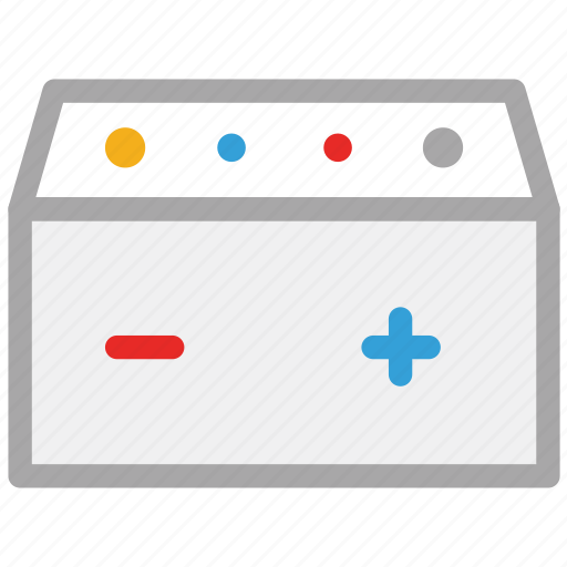 battery, car battery, energy, power icon
