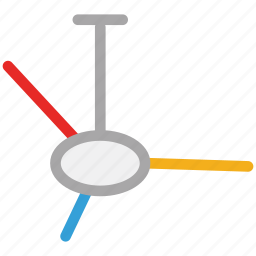 air, ceiling fan, electric, fan icon