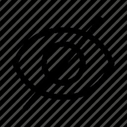 hidden, hide, invisible icon