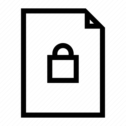 file, lock, lock file, password, protect, protect file icon