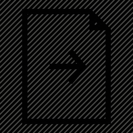 file, forward, send, send file icon