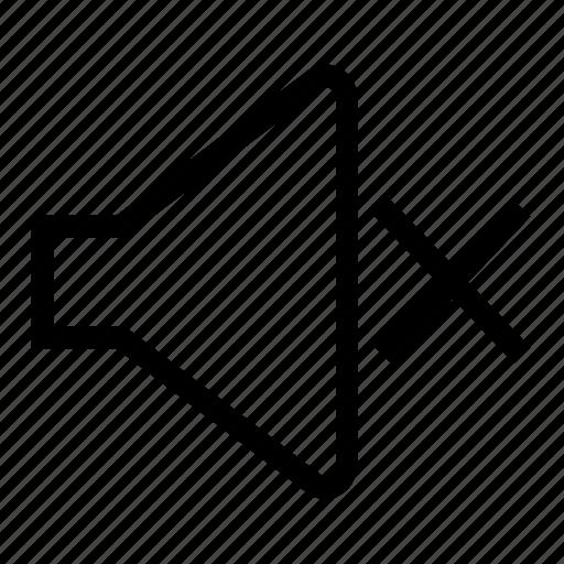 mute, sound, volume icon