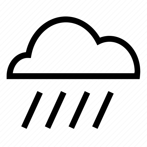 climate, rainy, shower, weather icon