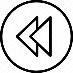 arrow, back, backward, previous, rewind icon