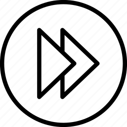 arrow, fast, forward, next, right icon