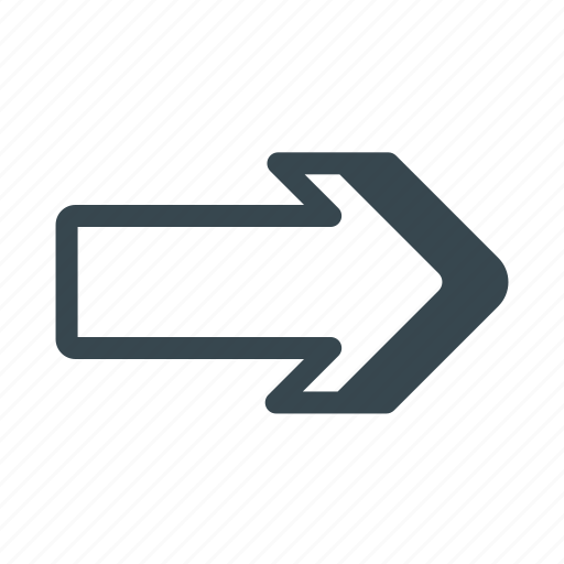Arrow, direction, east, forward, navigation, next, right icon - Download on Iconfinder