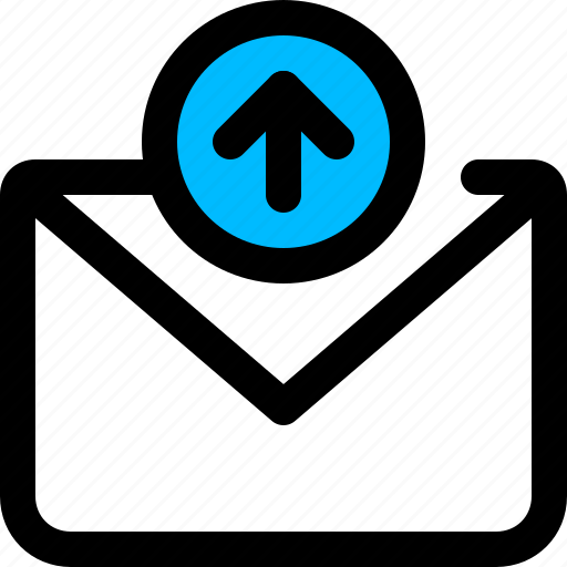 arrow, email, message, up, upload icon