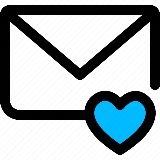 email, favorite, heart, mail, message icon