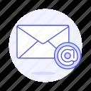 address, at, letter, sign, symbol, mail, envelope, email, message, parcel, close
