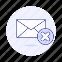 delete, email, envelope, letter, mail