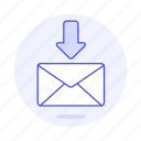 download, sync, email, letter, mail, envelope, inbox