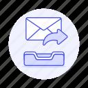 forward, email, envelope, mail, resend, letter