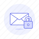 email, envelope, letter, lock, mail