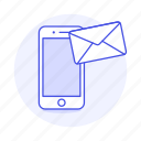 apps, email, mail, message, mobile, phone, send icon