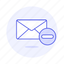 action, email, envelope, letter, mail, remove icon