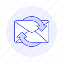 sync, letter, refresh, envelope, email, mail, syncing icon