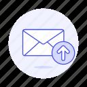 email, envelope, letter, mail, sent, sync, upload