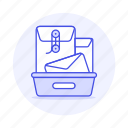 envelope, email, mailbox, tray, document