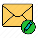 edit, email, envelop, letter, mail, message