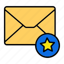 email, envelop, favourite, letter, mail, message, star