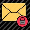 email, envelop, letter, lock, mail, message