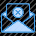 delete, cancel, close, remove, email, mail, message