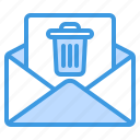 trash, delete, remove, garbage, email, mail, message
