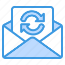 synchronize, sync, refresh, reload, email, mail, message