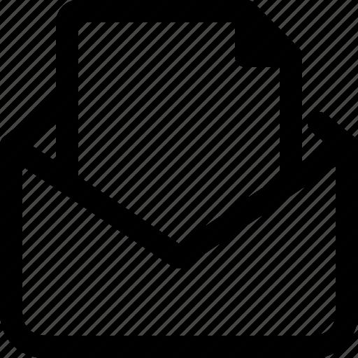 attachment, document, email, file icon