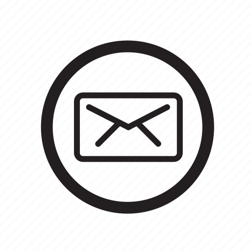 circle, email, envelope, mail, message, receive, send icon
