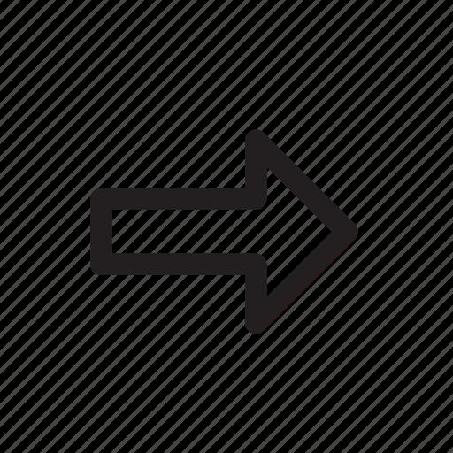 arrow, email, forward, right, send icon