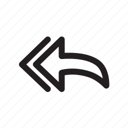 all, arrow, email, left, reply, respond icon
