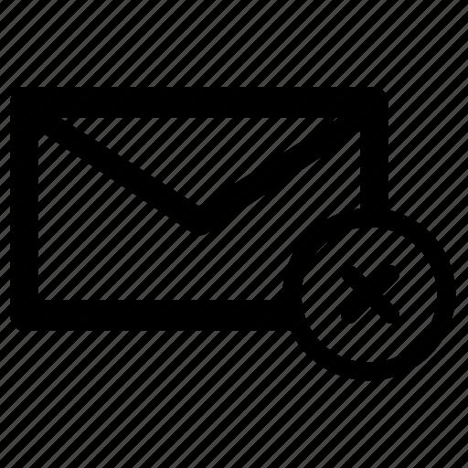 delete, email, envelope, message, remove icon