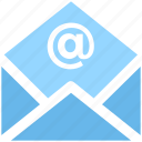 at, envelope, letter, mail, message, open